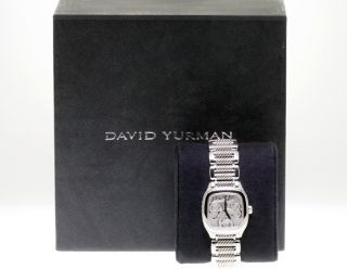 David Yurman Ladies Stainless Steel Diamond Dial Watch