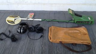 GARRETT MASTER HUNTER CXII METAL DETECTOR w CROSSFIRE DISC   WORKS MAY