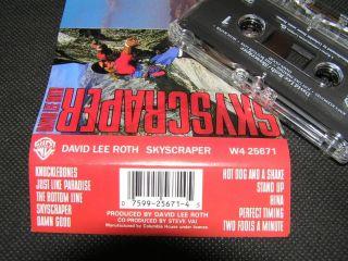 David Lee Roth Skyscraper Cassette Tape 1988 Warner