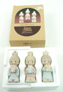 80s Wee Three Kings Enesco Precious Moments Ornament Set in Orig Box