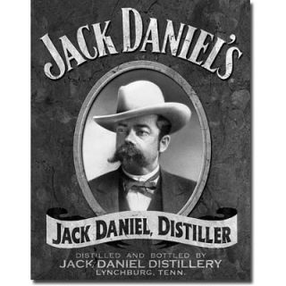 Jack Daniels Portrait Metal Tin Sign