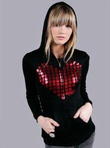 Abbey Dawn Avril Lavigne Metal Heart Hoodie Hoody New