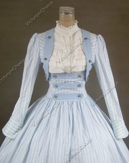 Civil War Victorian Cotton Ball Gown Day Dress Reenactment 187 XL