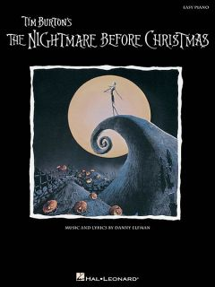 The Nightmare Before Christmas Easy Piano Song Book Sheet Music