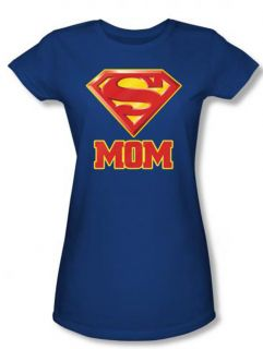 DC Comics Superman Super Mom Juniors Babydoll Superhero T Shirt Tee
