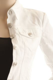 Rock Republic Womens White Jean Denim Jacket XS s M L