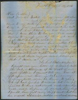1856 Miner Letter James King Assassination California