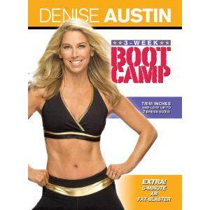 Denise Austin Three 3 Week Boot Camp DVD 2009 New 012236105466