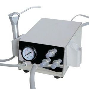 New Dental Portable Turbine Unit Fit Compressor Apdator and 4 Holes