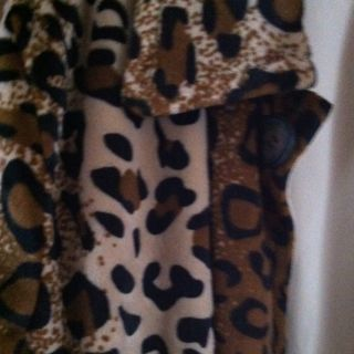 Dennis Basso 2X Womens Leopard Jacket Coat
