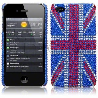 Carcasa tipo diamantes para Apple iPhone 4 / 4S modelo Bandera Reino