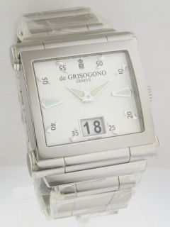 de GRISOGONO GRANDE No1 B Watch BIG Calendar Window Type Date NEWEST