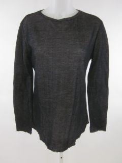 Zara Collection Black White Long Sleeve Shirt Top Sz L