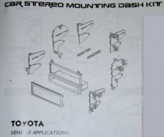 Car Radio Stereo Dash Install Kit Toyota 4Runner 5997