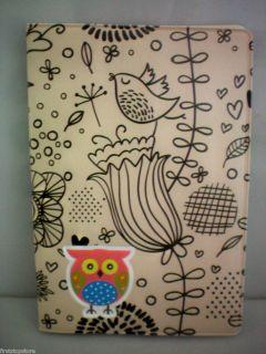CUTE OWL FLOWERS DESIGN TRAVEL PASSPORT HOLDER COVER CASE FREE