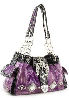 Shinny Inspired Rhinestone Buckle Designer Handbag Bag