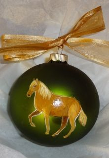 Paso Fino Horse Christmas Ornament Hand Painted Personalized with Name