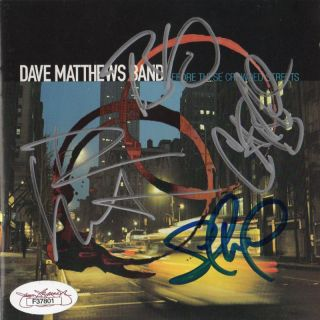 Crowded Streets Dave Matthews Band Signed Album JSA