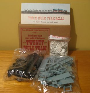 Death Valley 20 Mule Team Borax Model Kit Plastic With Original Mailer