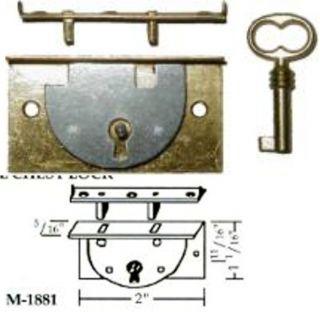 Half Mortise Roll Top Desk Small Chest Lock New M1881