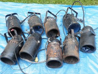 Theater Lights Large Lot Antique Used Spot Lights Vintage