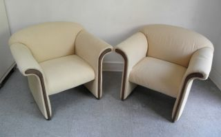 MID CENTURY MODERN HOLLYWOOD REGENCY LOUNGE CHAIRS DAVID EDWARD 1970s
