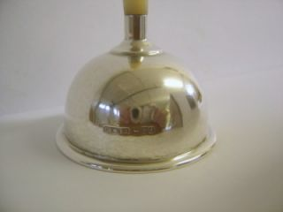Good Quality Antique Solid Silver Table Bell with MOP Handle Chester