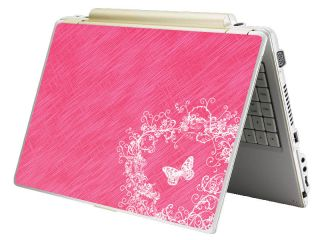 Bundle Monster Mini Netbook Laptop Notebook Skin Decal Pink Butterfly