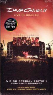 DVD CD Box Set David Gilmour Live in Gdansk New
