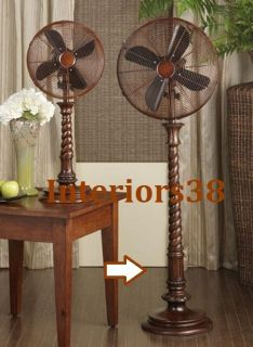 Rope Design Floor Standing Oscillating Whisper Fan 3 Speed