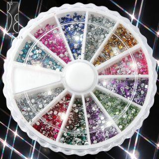 Piedras Decoración 12 Color Para Arte de Uñas Decorar Móvil