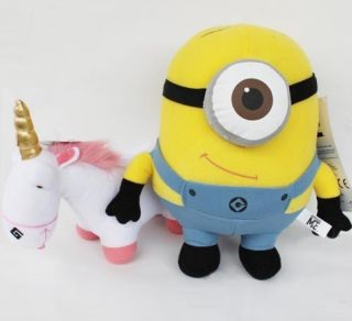 Despicable Me Minion Plush Toy Doll Stuffed Animal Soft Figure Stewart