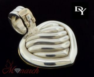 David Yurman 18kt and Sterling Silver Heart Locket / Pendant