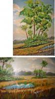Florida Folk Art Landscape R Devoe Vtg Original Oil Painting Hammock