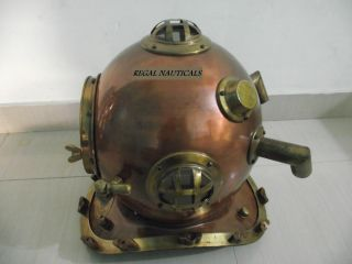 Scuba Mark V Divers Helmet US Navy Deep Water Diving