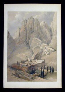 David Roberts Original 1846 Folio Lithograph  Egypt   Holy Land  Mount