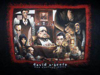 Authentic David OKeefe Godfather La Famiglia T Shirt Black x Large