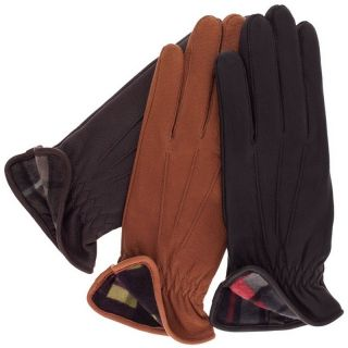 Ladies CHIPPEWA Deerskin Leather Gloves with Plaid Fleece Lining by
