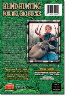 Blind Hunting for Big, Big, Bucks ~ Whitetail Deer DVD
