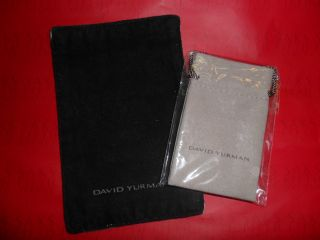 David Yurman Small Suede Pouch w Cleaning Cloth
