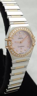 Ladies Rose Gold Pink Mother of Pearl Diamond 1368 73