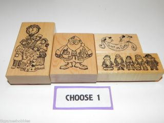 Delafield Stamp Company Pick 1 Rubber Stamp Christmas