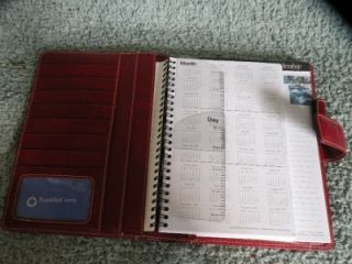 Red Franklin Covey Day Planner Organizer w/Notepad & Weekly Planning