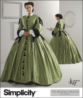 Simplicity 2887 Civil War Day Dress Costume Pattern
