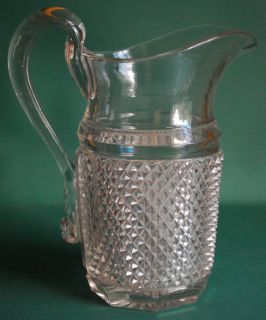 Sharp Diamond Point Pitcher 1855 1870 Negc