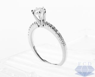 85 CTW Round Diamond Engagement Ring 14k White Gold Big 3 4 Carat
