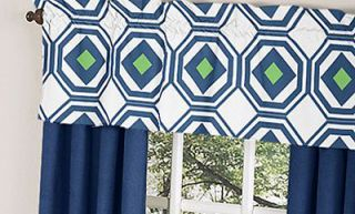 Unique Geometric Navy Blue Lime Green Designer Boy Girl Baby Bedding
