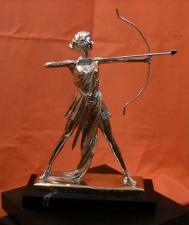 Art Deco Diana Artemis Archery F Preiss Bronze Statue Sculpture Quiver