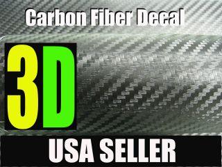 3D Black Carbon Fiber Vinyl Sheet Wrap 12X60 Lotus