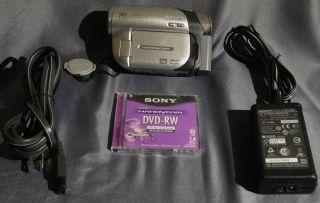 Sony Handycam DCR DVD92 Camcorder Black Silver Video Camera Mini DVD